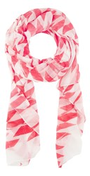 Sandwich Paradise Pink Printed Scarf