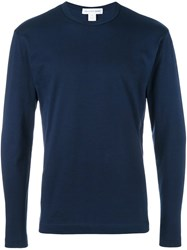 Comme Des Garcons Shirt Long Sleeve T Shirt Blue