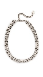 Dannijo Dulce Necklace Crystal Ox Silver