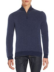 Saks Fifth Avenue V Neck Cashmere Sweater Admiral Blue