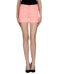 J Brand Christopher Kane Denim Bermudas Salmon Pink