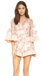 Alice Mccall Fact Or Fiction Romper Blush Blossom