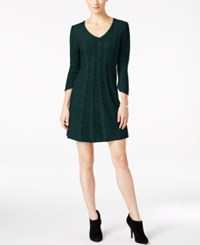 Ny Collection Petite Cable Knit Sweater Dress Serene Forest