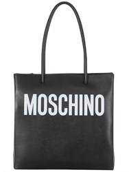 Moschino Logo Shopping Nappa Leather Tote