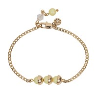 Nadia Minkoff Mini Pearl Friendship Bracelet Yellow Sherbet Gold Yellow Orange