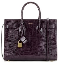 Saint Laurent Sac De Jour Small Embossed Leather Tote Purple