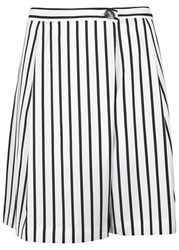 Mcq By Alexander Mcqueen White Striped Jersey Shorts Black And White