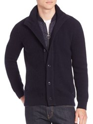 Barbour Long Sleeve Cotton Cardigan Navy