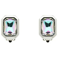 Monet Vitrail Crystal Clip On Earrings Silver