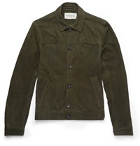 Oliver Spencer Suede Jacket Green