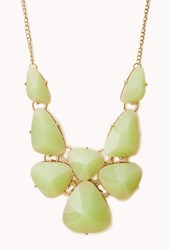 Forever 21 Statement Faux Gemstone Bib Necklace