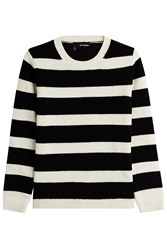 The Kooples Wool Blend Striped Pullover Stripes