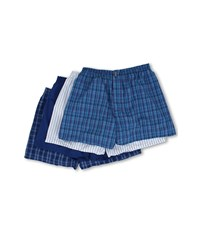 Jockey Full Cut Blended Boxer 4 Pack Freddy Horizon Blue Ink Blue Ed Stripe Bert Horizon Ink Blue Men's Underwear Multi