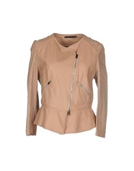 Atos Lombardini Coats And Jackets Jackets Women Camel