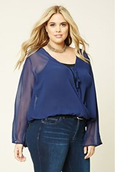 Forever 21 Plus Size Sheer Surplice Top