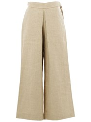 Maison Rabih Kayrouz High Waisted Palazzo Trousers Nude And Neutrals
