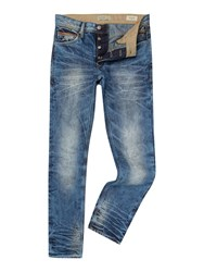 Blend Of America Stonewash Low Rise Jeans Mid Blue