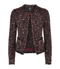 Ted Baker Jasina Boucle Fringe Jacket Female Burgundy