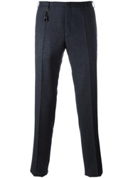 Incotex Patterned Slim Fit Trousers Blue