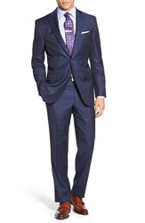 Men's David Donahue Classic Fit Windowpane Wool Suit