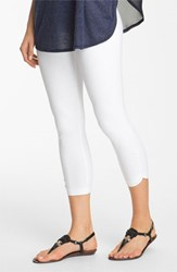 Lysse Women's Ruched Capri Leggings White
