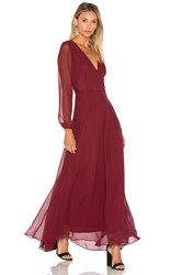 Lucy Paris Carolina Maxi Dress Burgundy