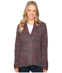 Royal Robbins Autumn Rose Cardigan Beet Women's Sweater Red