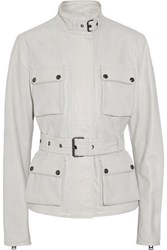 Belstaff Triumph Leather Jacket Off White