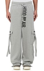Hood By Air Men's Embroidered Oversized Sweatpants Grey