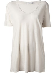 T By Alexander Wang Scoop Neck T Shirt Nude And Neutrals