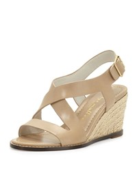 Bettye Muller Ponza Leather Espadrille Wedge Sandal Natural