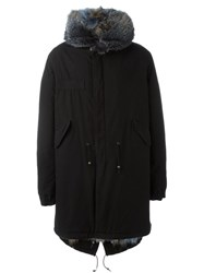 Mr And Mrs Italy Fur Collar Parka Black