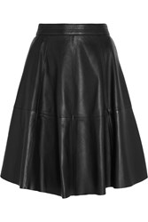 Iris And Ink Marcelle Leather Skirt Black