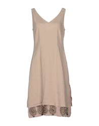 Maliparmi Dresses Knee Length Dresses Women Beige