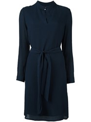 A.P.C. Tie Waist Dress Blue