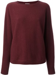 Brunello Cucinelli Round Neck Jumper Pink And Purple