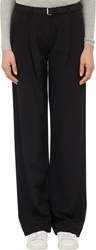 Atm Anthony Thomas Melillo Faille Wide Leg Trousers Black