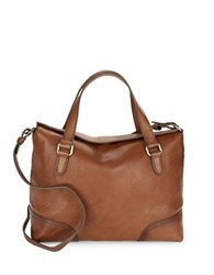 Frye Claude Leather Satchel Whiskey