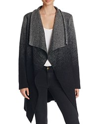 Bb Dakota Kinney Ombre Drape Front Sweater Coat Black
