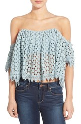 Women's Tularosa 'Amelia' Off The Shoulder Crochet Crop Top
