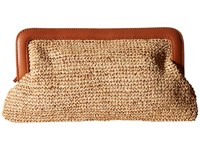 Hat Attack Luxe Clutch Tobacco 2 Clutch Handbags Brown