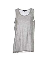 Les Copains Sleeveless Sweaters Light Grey
