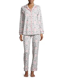 Bedhead Butterfly Print Classic Pajama Set Black Pink Blk Pnk Butterfly