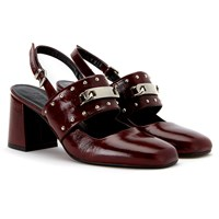 Finery Claybrook Sling Back Court Shoes Oxblood