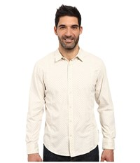 Prana Lukas Shirt Stone Men's Long Sleeve Button Up White