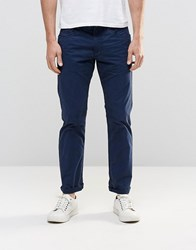 Esprit 5 Pocket Pants In Slim Fit Navy
