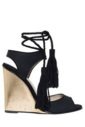 Paul Andrew Tiajin Wedge Sandals Black