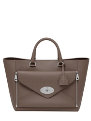 Mulberry Willow Silky Classic Leather Top Handle Taupe