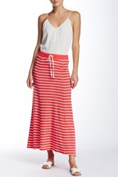 Joe Fresh Drawstring Maxi Skirt Red