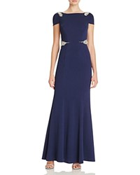 Mignon Embellished Gown Navy